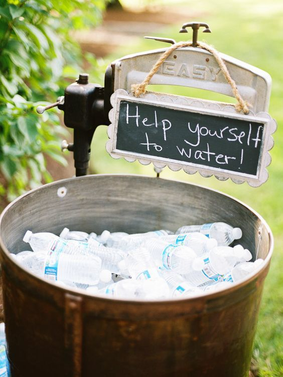 water station wedding