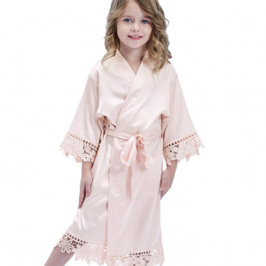 Bridal robe flower girl robe