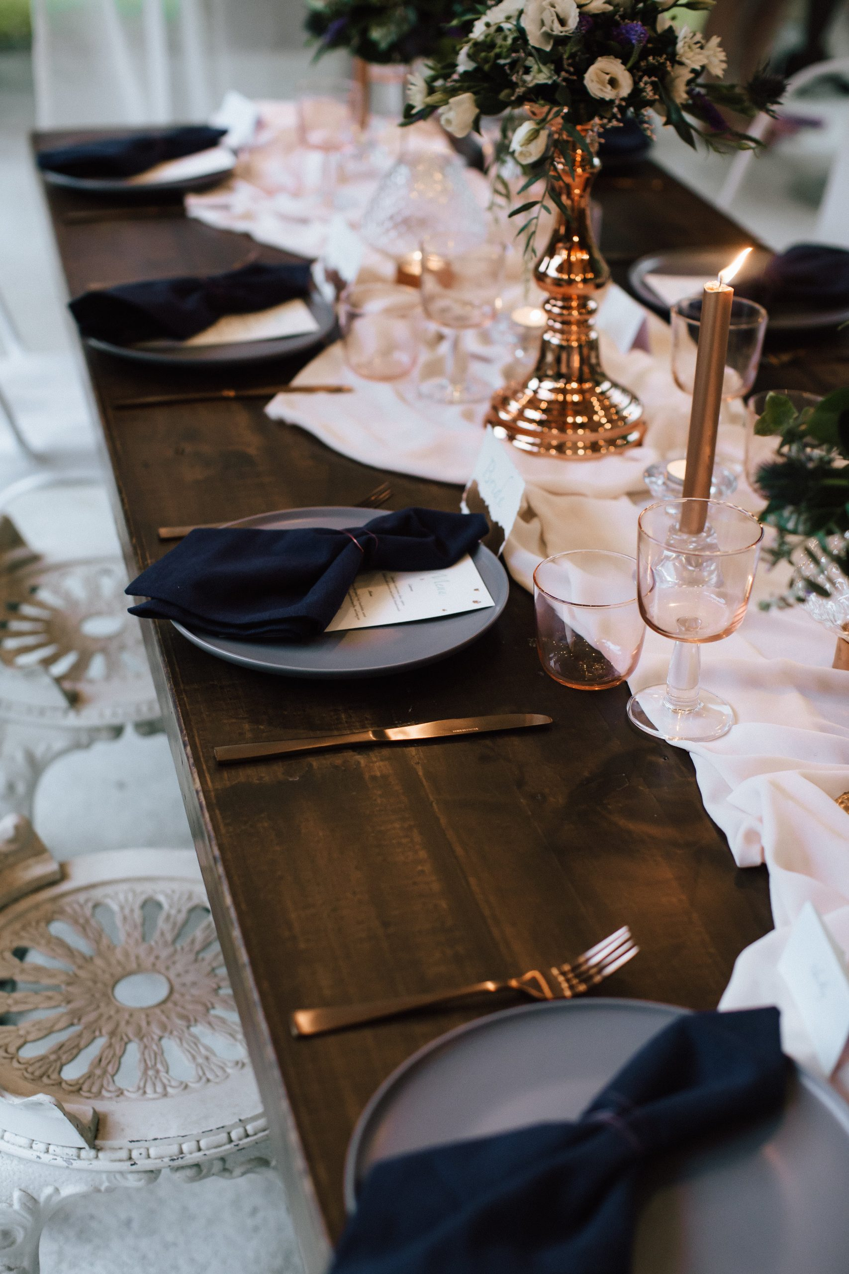 elopement table settings