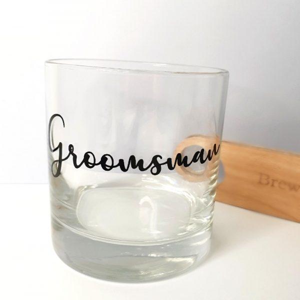 custom groomsman glass