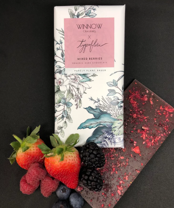mixed berries vegan chocolate